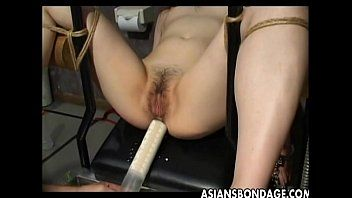 Oriental bondman bound up and toy drilled terrifically