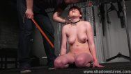 Firm drubbing and whipping to tears of bound louise red in harsh domination
