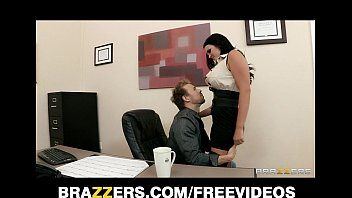 Big-tit office milf mackenzee pierce takes 2 knobs at work