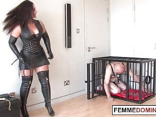 Brit mistress whips mercilessly wicked villein