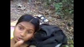 Homeless indian cutie in the forest
