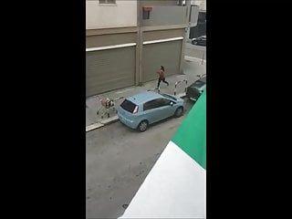 Ángel expuesto en la calle italiana