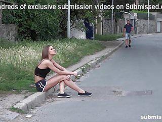 Struggling chick sarah kay street pickup gagged subbed fuckd